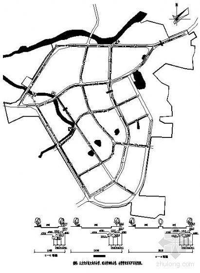 某镇排水规划设计图纸(课程设计)