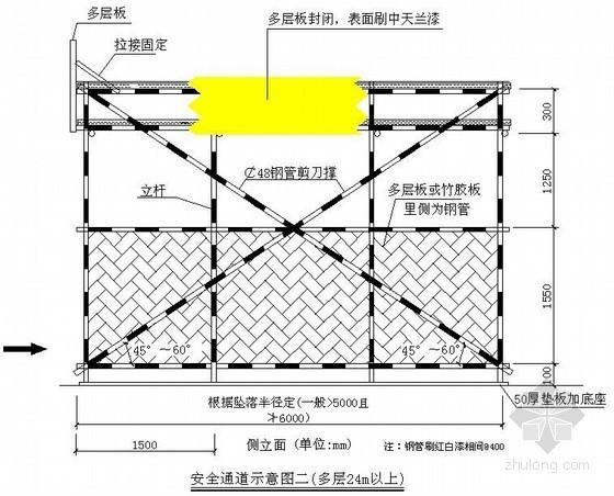 建筑工程安全通道示意图(高层24m以上)
