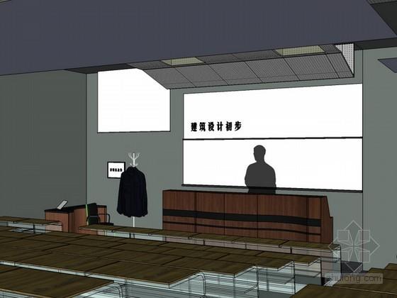 阶梯教室sketchup模型下载