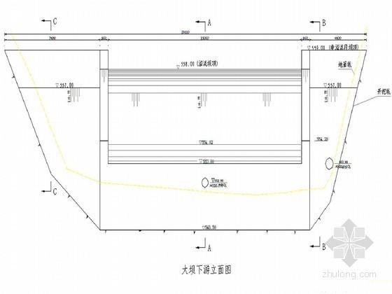 小型浆砌石拱坝工程节点详图(溢流坝 明渠)
