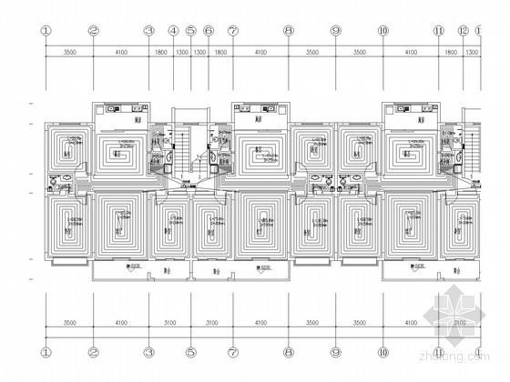 居民住宅楼低温热水地板辐射供暖系统设计施工图