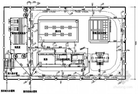 [广东]小型水厂全套施工图纸