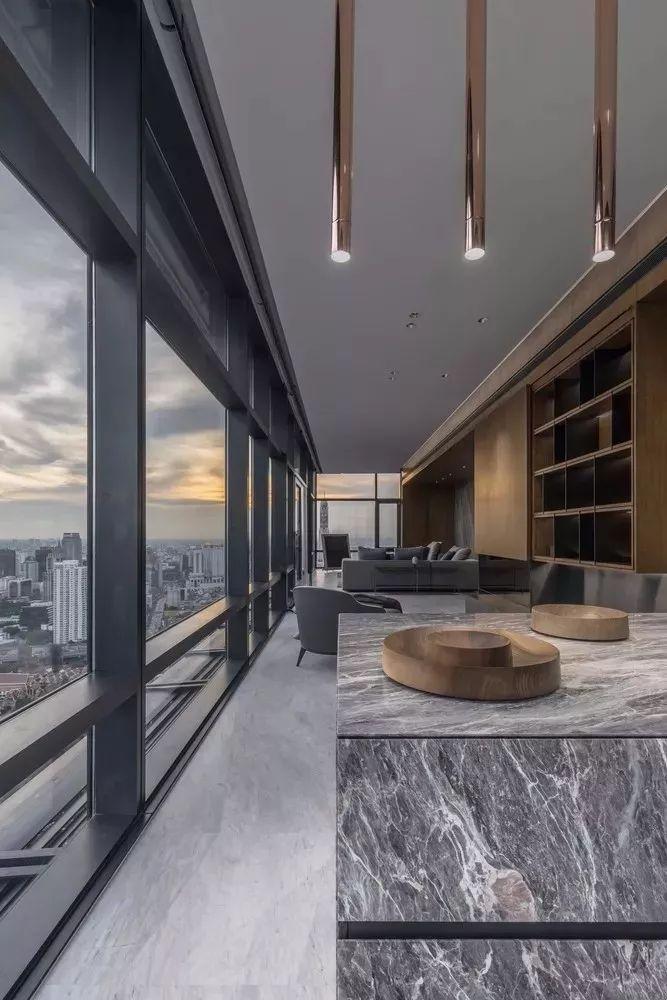 室内设计 130㎡的单身公寓,设计感十足_21
