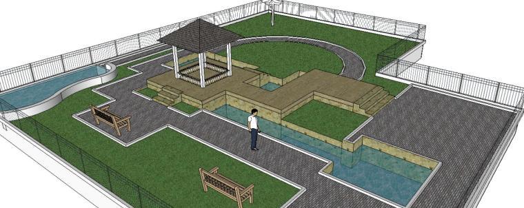 庭院景观模型设计