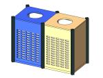 bim软件应用-族文件-钢木垃圾桶