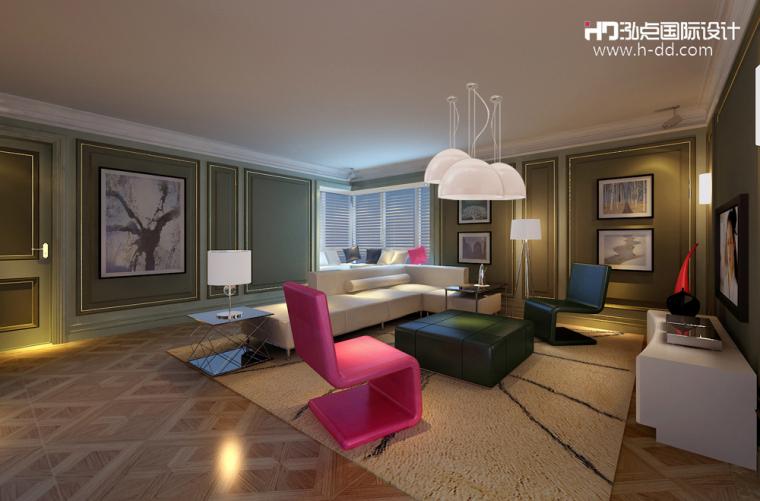 #我的年度作品秀#奢华公寓之彩色欧式_1