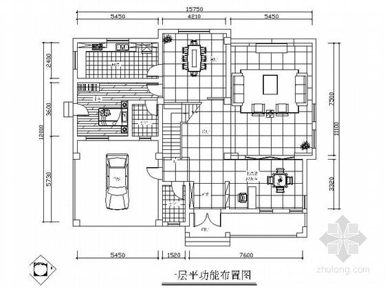 [原创]中式复古情怀三层别墅家装施工图(含效果图)