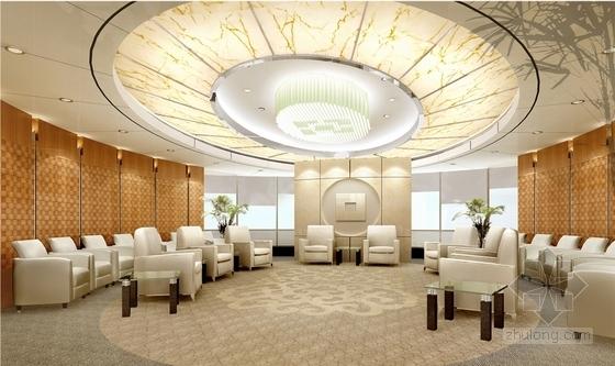 1基础设施开发性金融机构高档现代营业厅设计方案 贵宾接待室