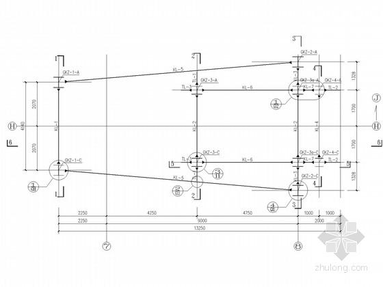 科研大楼屋顶装饰钢架结构施工图