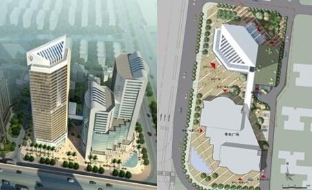 32层框筒结构国内知名电力公司办公楼结构施工图(地下5层 含建筑施工图)