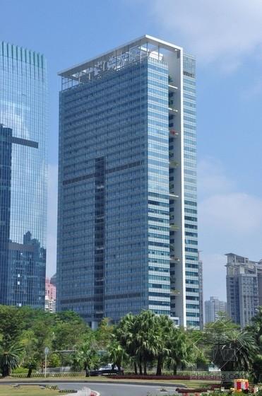 [深圳]35层框筒结构商务大厦带屋顶花园结构图(150米)