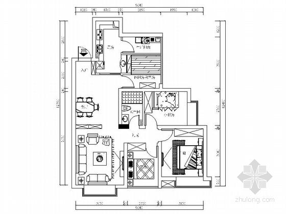 [四川]核心区简约现代风格四居室装修室内设计施工图