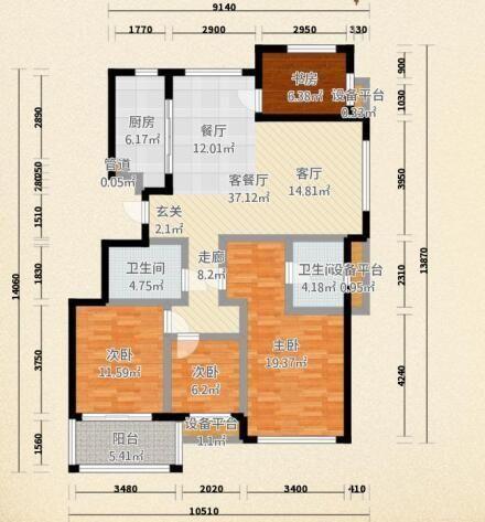 138平米混搭风,这样的客厅让人眼前一亮-500x750 (4).jpg