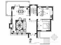 [北京]精品欧式风格三层别墅室内装修施工图(含方案效果)