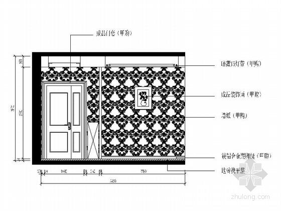 [杭州]两室两厅温馨小户型室内装修施工图(含效果图) 餐厅立面