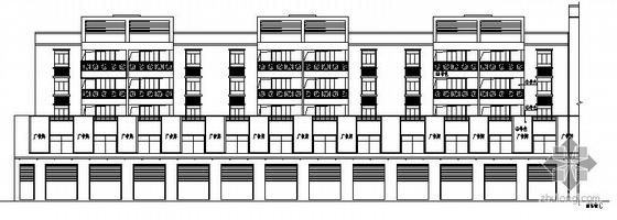 某六层商住楼区建筑施工图(三栋)