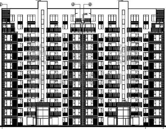 知名地产某小区2号楼建筑施工图(全套)