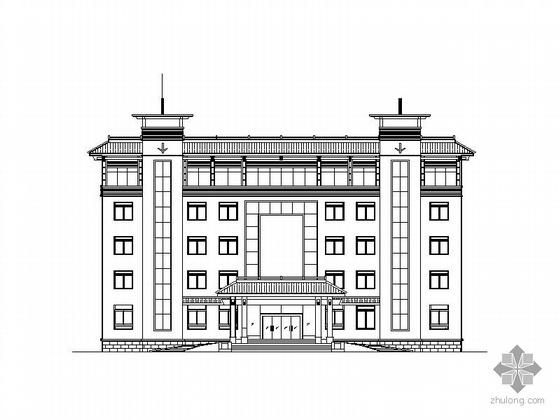 某县审计局五层办公业务用房及投资审计服务中心建筑施工图(含效果图)