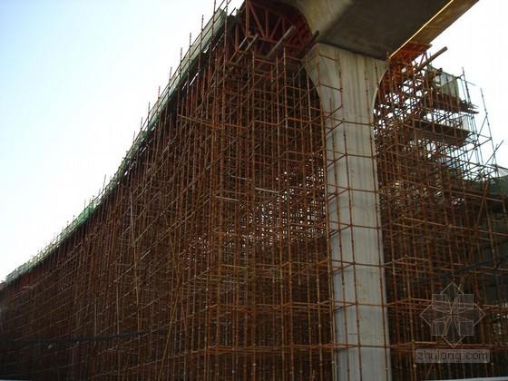 高架桥WDJ碗扣型多功能脚手架搭设满堂支架施工方案(承载计算)