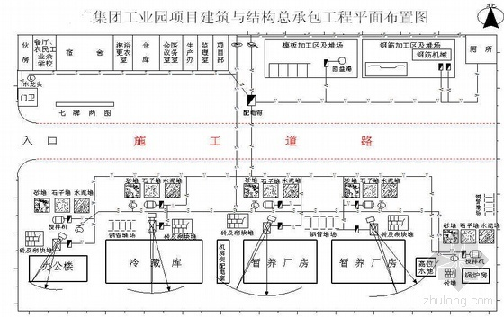 山东某厂房、冷藏库、办公楼及配套工程施工组织设计