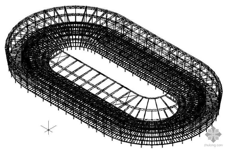 某国家大型体育馆结构三维模型