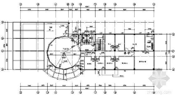 某二层售楼处建筑方案图-3