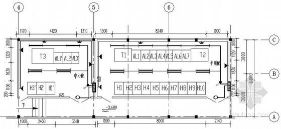 商务楼地下配电室全套电气施工图纸