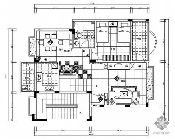 某复式住宅全套施工图效果图及预算