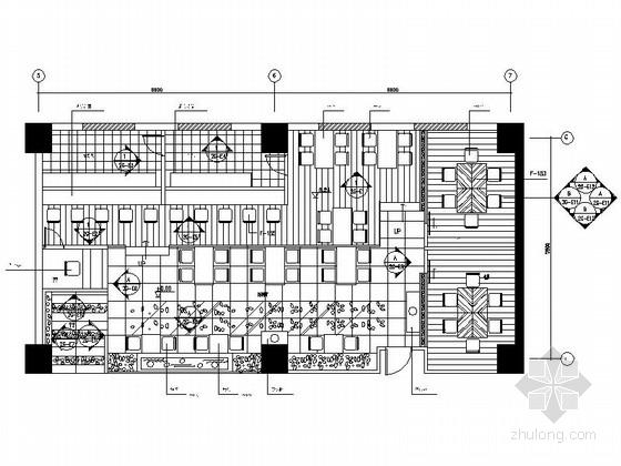 [四川]豪华五星级酒店日式餐厅室内装修施工图