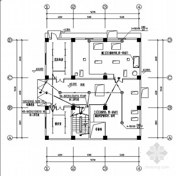 某饲料厂房电气照明设计图