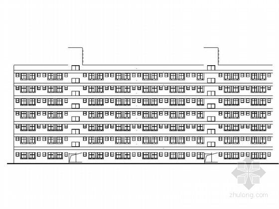 [深圳]某七层宿舍楼建筑施工图