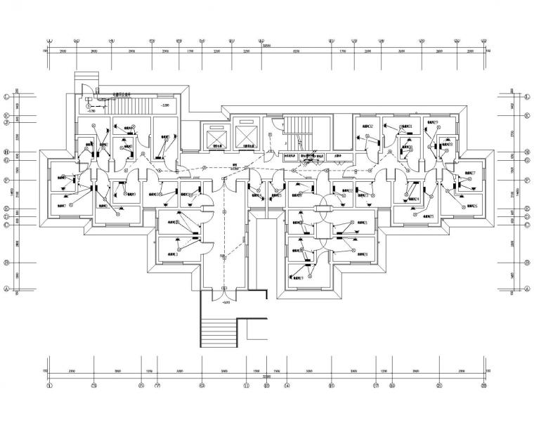 [天津]17层高层住宅电气施工图