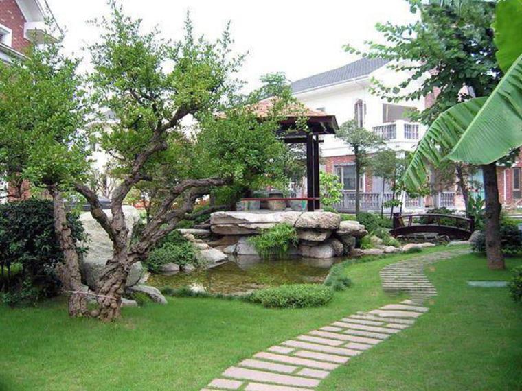 成都别墅设计之庭院隔断