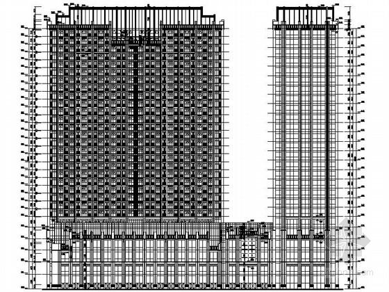高层城市综合体建筑立面图