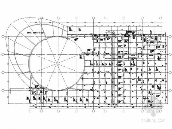 24层框架核心筒结构酒店结施(含四层裙房、车库)