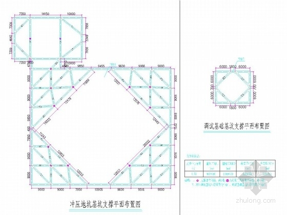 [浙江]围护桩加混凝土支撑深基坑支护施工图