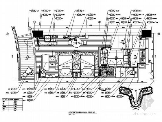 [广东]高级现代五星级酒店样板房室内装修施工图