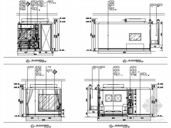 [苏州]简约小户型样板间室内装修图(含效果) 立面
