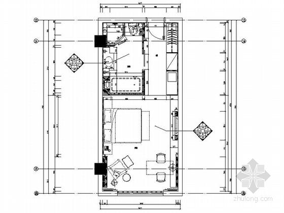 [杭州]高档连锁酒店标准间装修图(含效果)