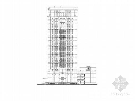 [深圳]25层现代风格办公大厦建筑设计施工图(知名设计院含效果图)-[深圳]25层现代风格办公大厦建筑设计施工图(知名设计院 含效果图)