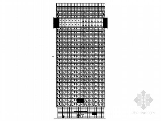 [杭州]26层玻璃幕墙市民中心建筑设计施工图(含效果图)