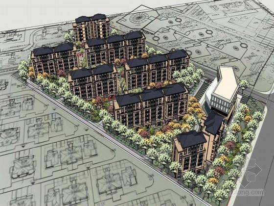 [江苏]新古典风格住宅区规划方案文本(知名地产公司)