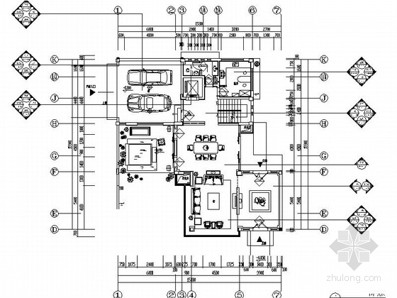[四川]新中式三层别墅室内装修设计施工图(含效果)