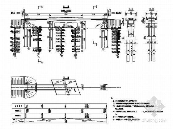 [黑龙江]预应力混凝土连续箱梁车行天桥施工图64张