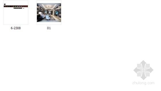 [潮州]时尚现代风格三居室装修施工图(含效果图) 总缩略图