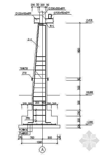 某花架结构配筋图-2