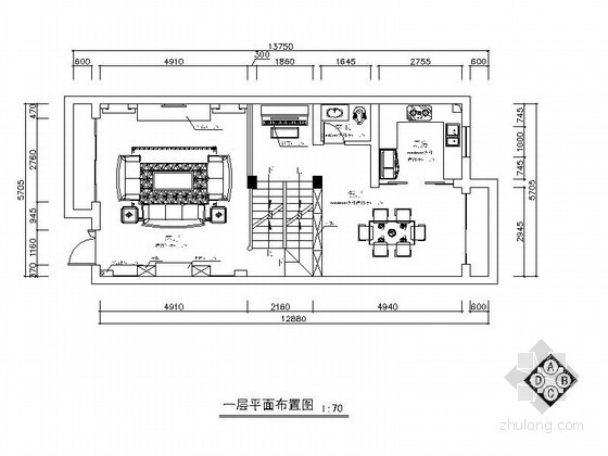 精品美式乡村三层别墅室内装修设计图(含效果)