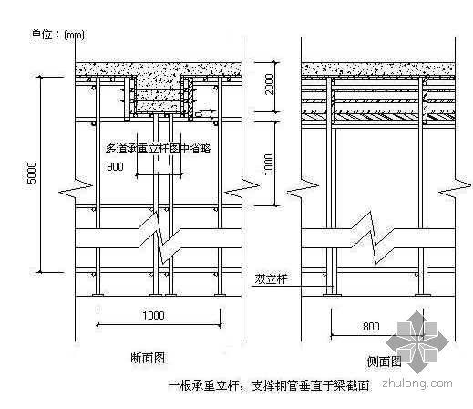 重庆某框架结构住宅转换层施工方案(有计算)