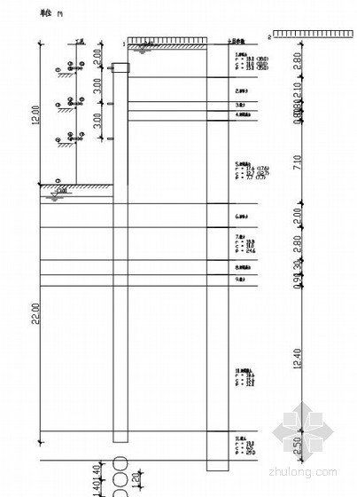 长三角地区某深基坑围护结构设计及降水设计(计算书)
