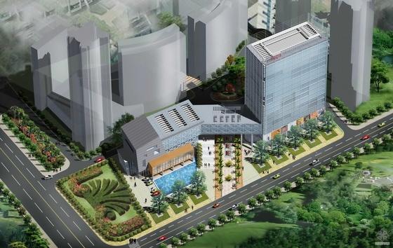 [湖北]某新基地办公大楼建筑规划设计方案